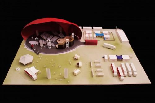 《建築スタディ模型》